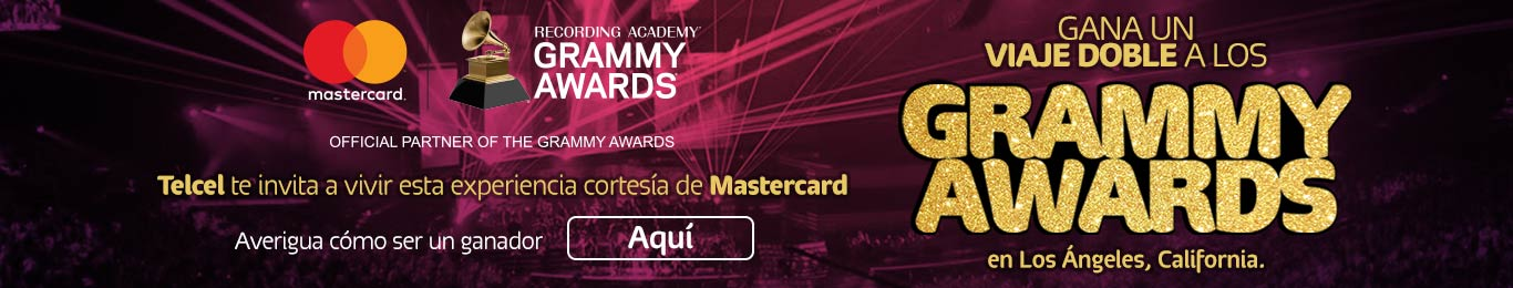 telcel te invita a vivir los grammy awards cortesia de master card