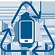 icono de reciclaje de celulares