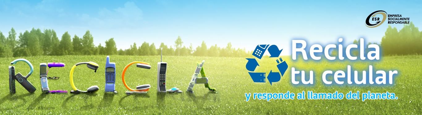 recicla tu celular y responde al llamado del planeta